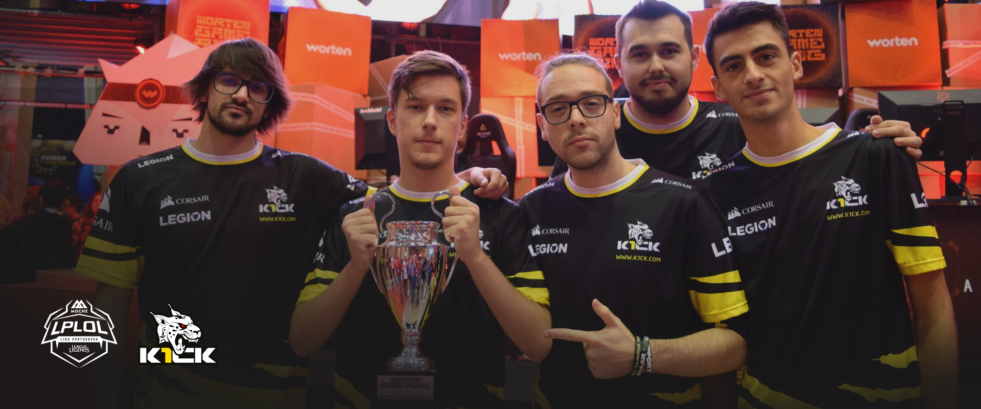 K1CK levantam a taça do WGR Split na Lisboa Games Week!